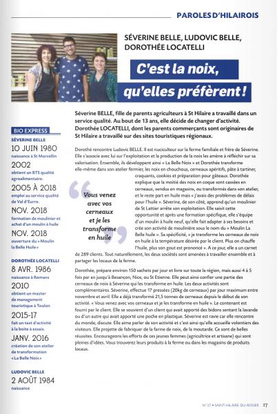 Reflets St Hilaire du Rosier de septembre 2019