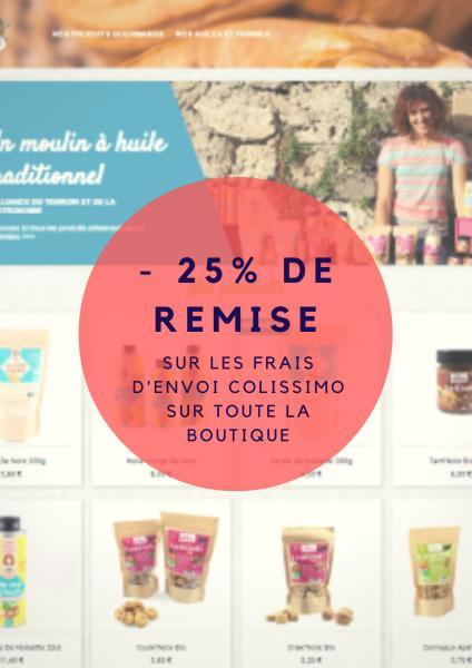EXCLU : -25% sur vos frais d'envoi Colissimo sur toute la Belle Boutique Noix!