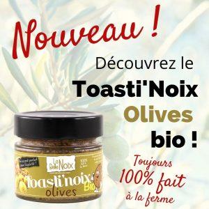 Toasti'Noix Olives bio à découvrir chez la Belle Noix!